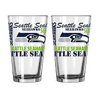 Boelter Brands Seattle Seahawks 2-Pack Pint Glass Set