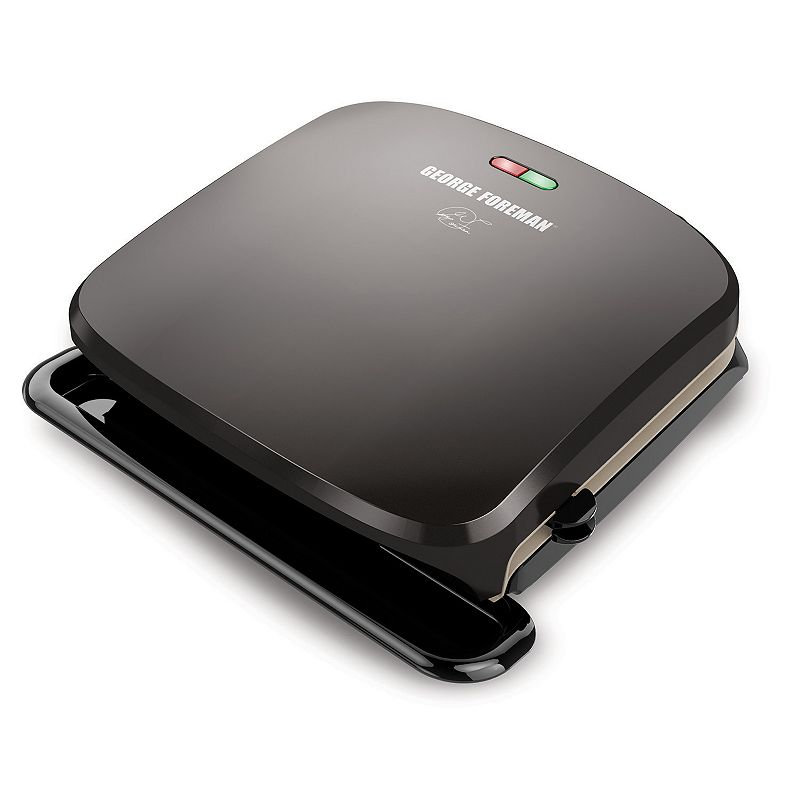 George Foreman 4-Serving Removable Ceramic Plate Grill