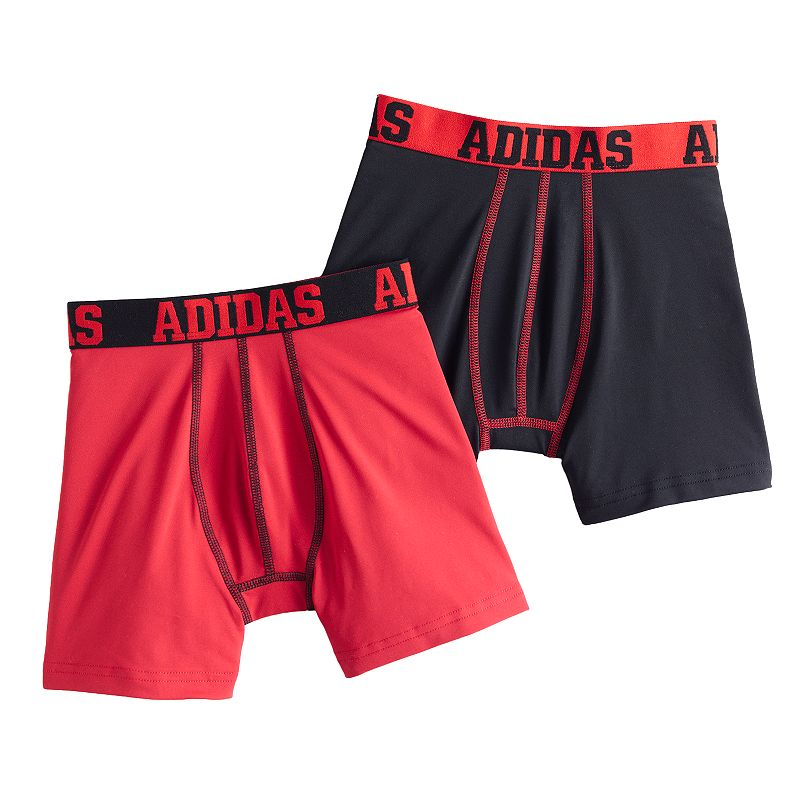 Boys 8-20 adidas 2-pack Performance Boxer Briefs
