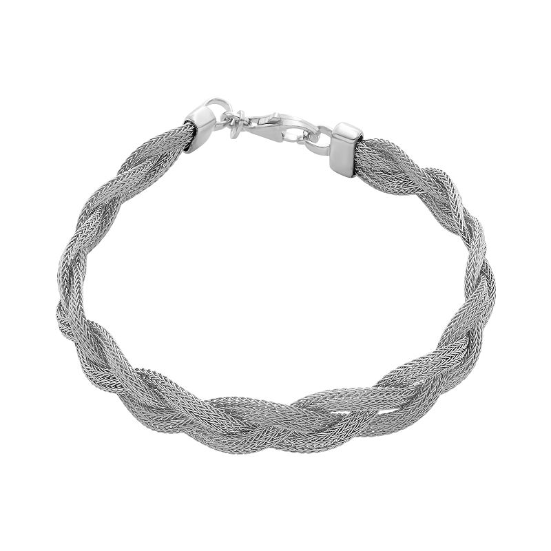 Sterling Silver Mesh Braided Bracelet