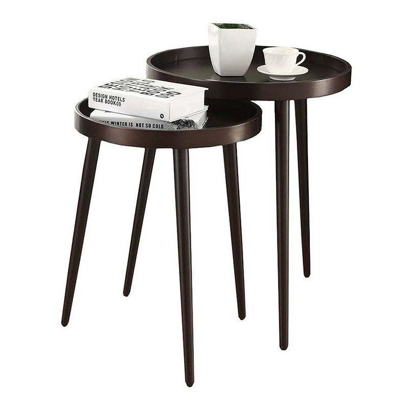 Monarch Midcentury Modern 2-piece Nesting Table Set