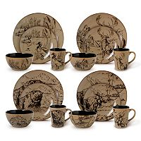 Gourmet Basics Mossy Oak 16-pc. Dinnerware Set