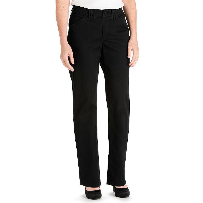 Lee Kassidy Comfort Waist Twill Straight-Leg Pants - Women's