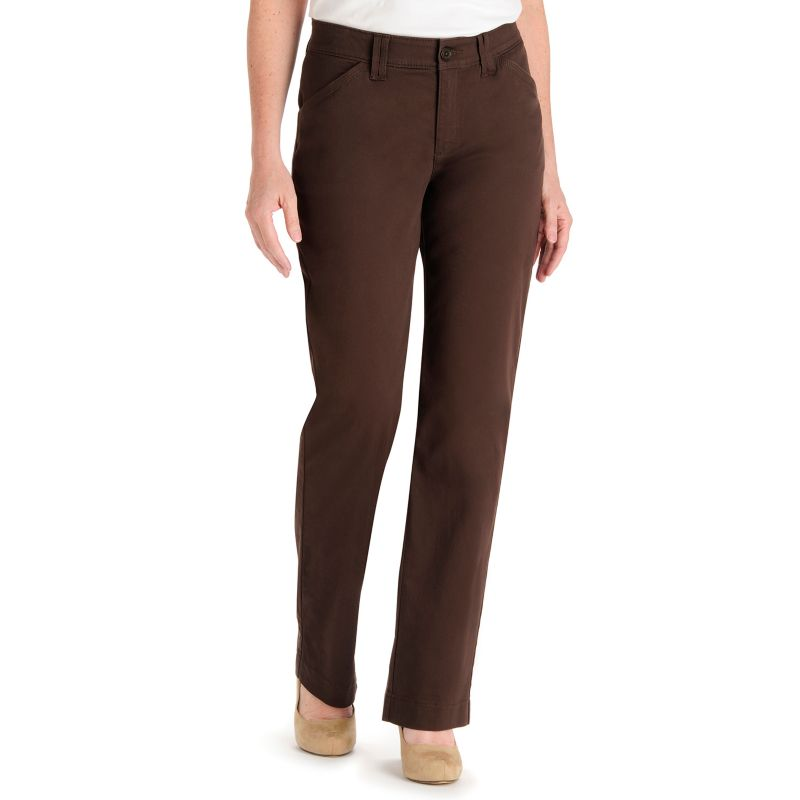 Lee Kassidy Comfort Waist Twill Straight Leg Pants Women S