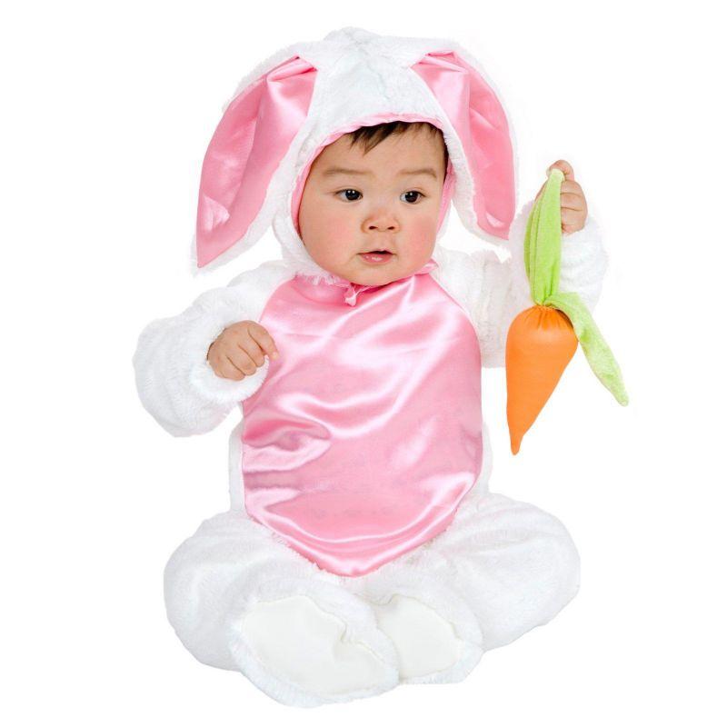 Plush Bunny Costume - Baby (Pink/White)
