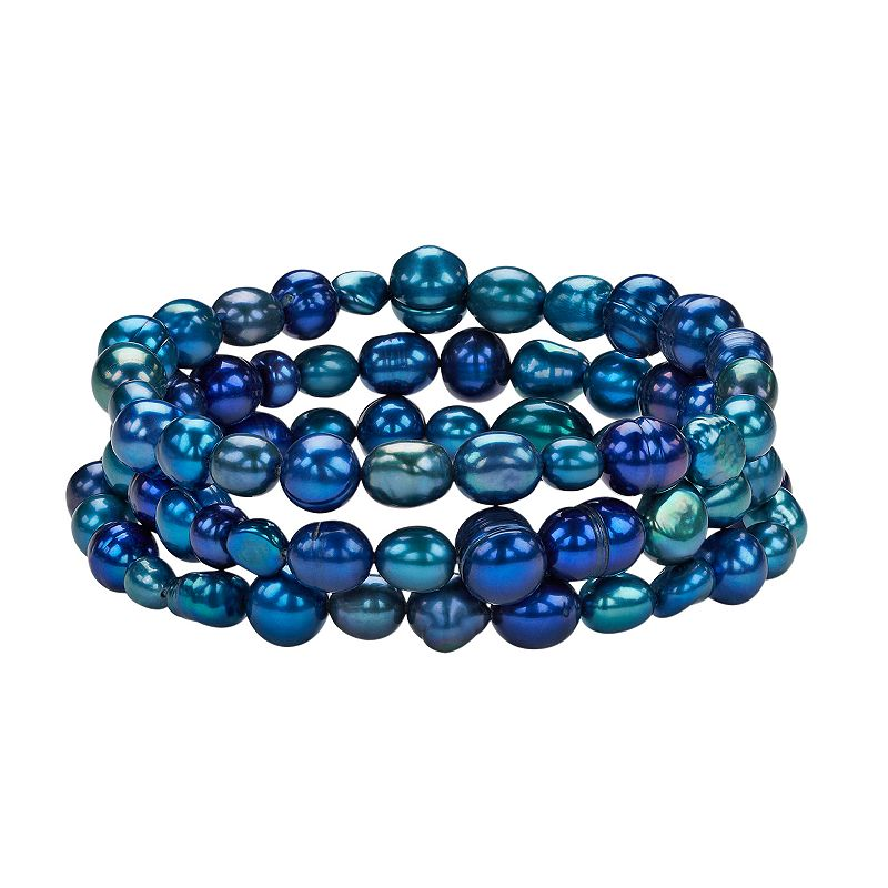 Freshwater by HONORA Naturally Colored or Dyed Freshwater Cultured Pearl Stretch Bracelet Set