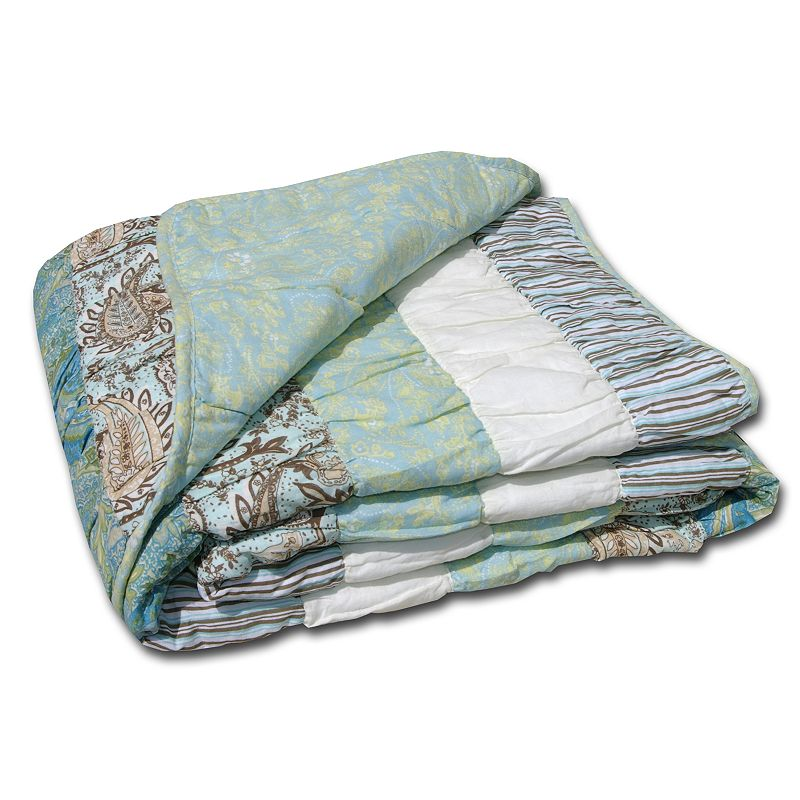 Paradise Reversible Quilted Throw