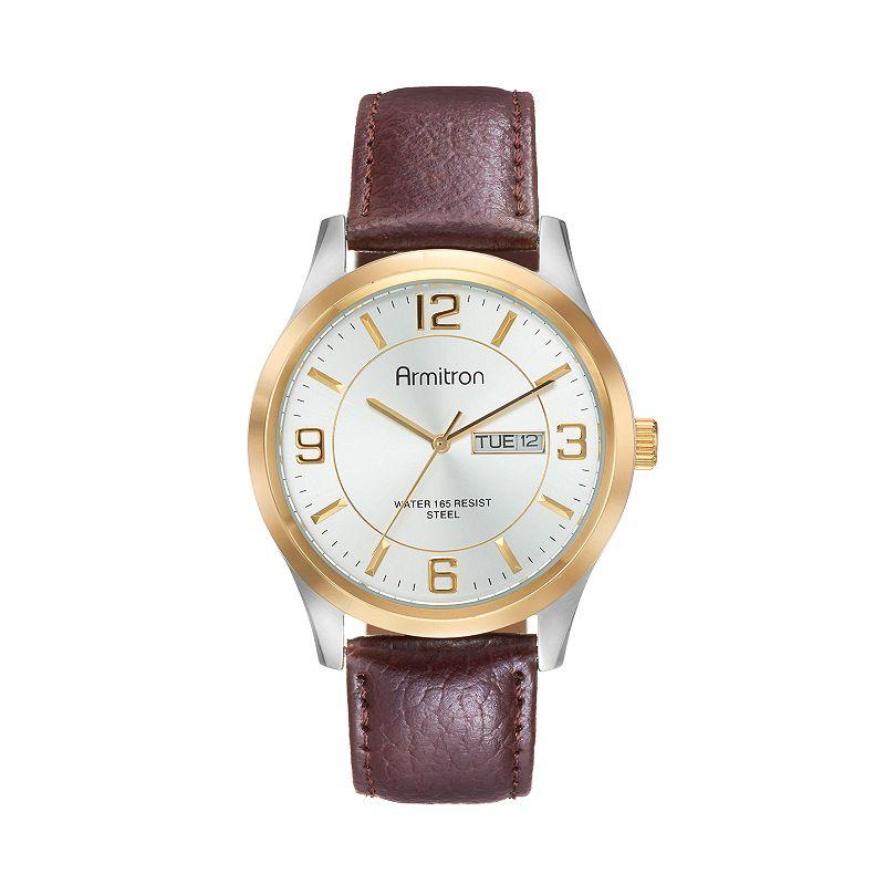 Armitron Men's Leather Watch - 20/5034SVTTBN