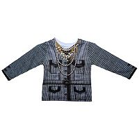 Faux Real Houndstooth Blazer Tee - Toddler