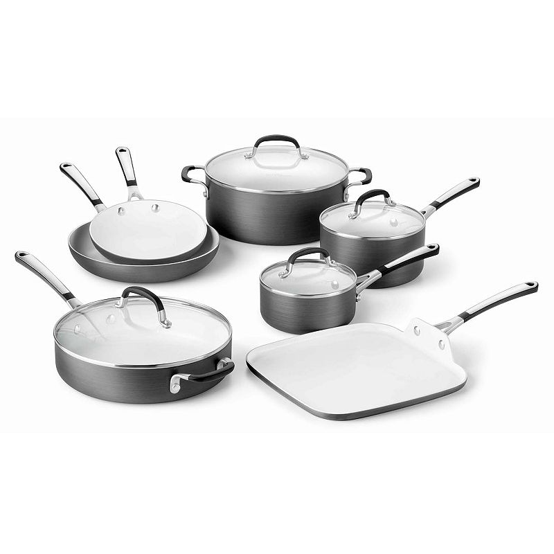 Calphalon 11-pc. Ceramic Nonstick Hard-Anodized Cookware Set
