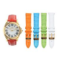 Invicta Women's Angel Watch & Interchangeable Leather Band Set - K-IN-15936