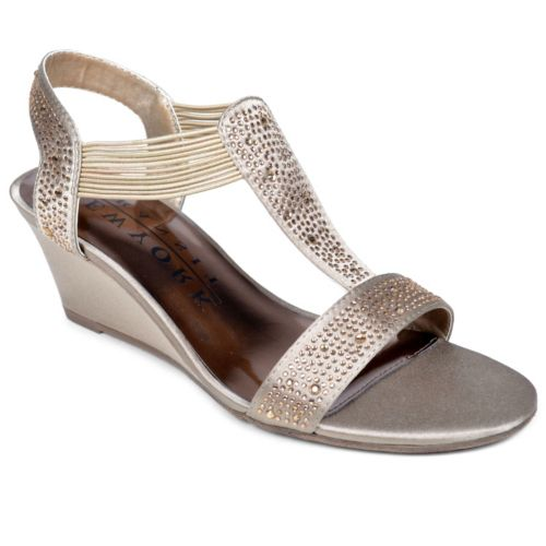 New York Transit Great Right Women's Embellished Wedge Sandals