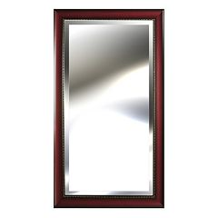 Gallery Perfect Rosewood Beveled Wall Mirror by