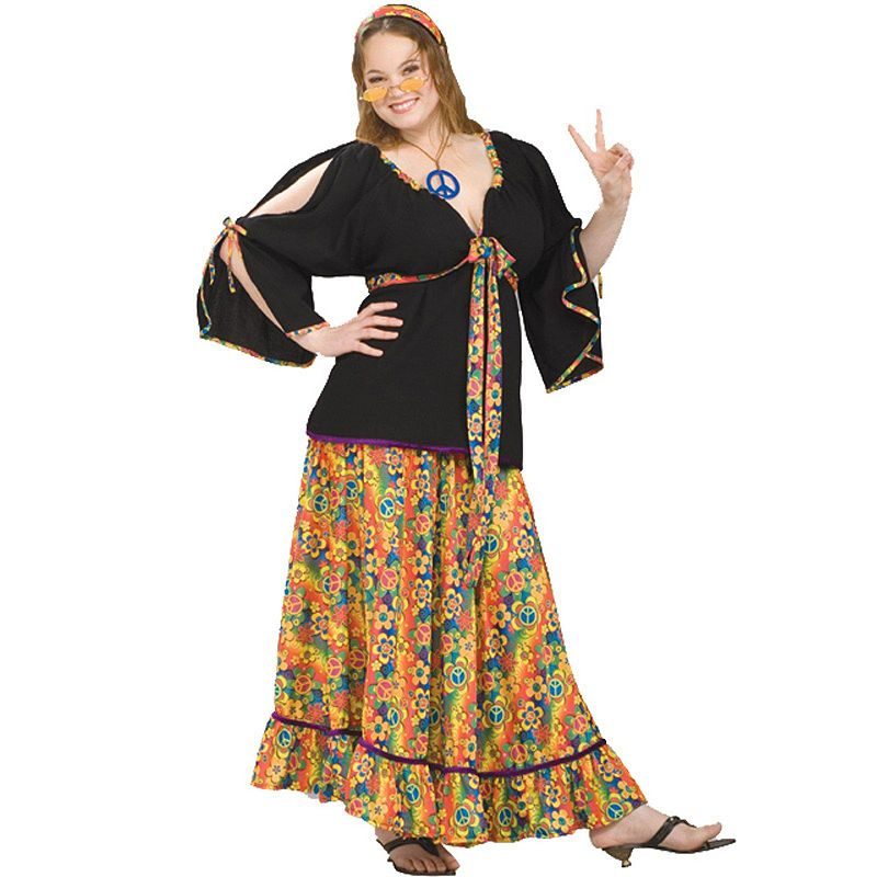 Groovy Lady Costume - Adult Plus