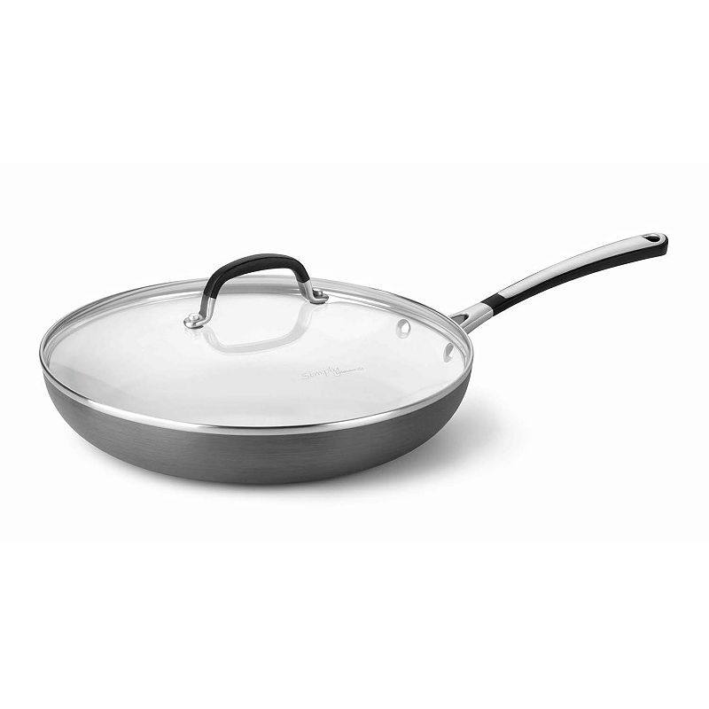 Calphalon 12-in. Covered Ceramic Nonstick Hard-Anodized Omelet Pan
