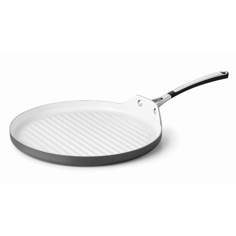 Calphalon 13-in. Ceramic Nonstick Hard-Anodized Round Grill Pan
