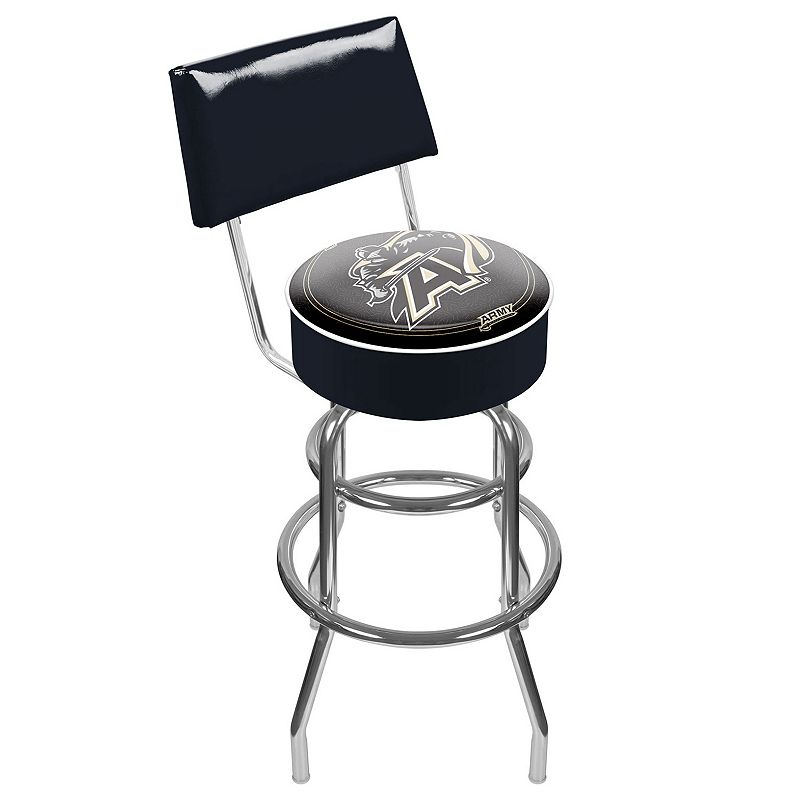 Army Black Knights Padded Swivel Bar Stool with Back