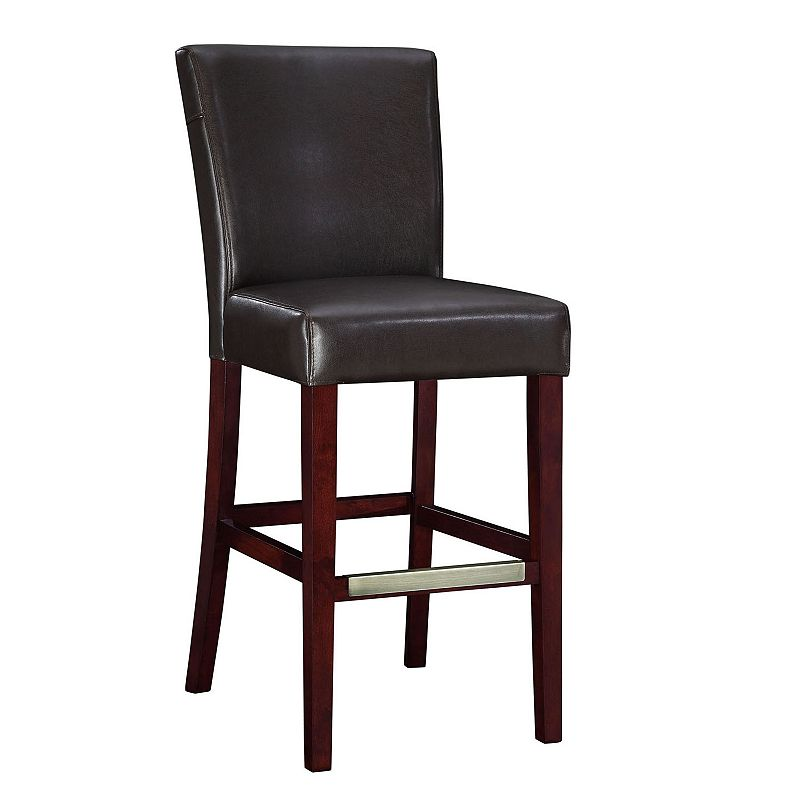 Leather Parsons Bar Chair