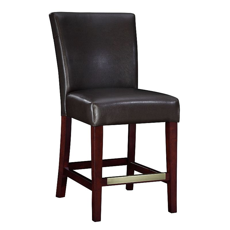 Leather Parsons Counter Chair