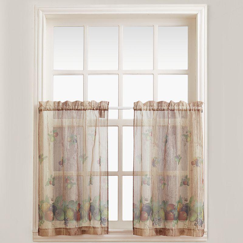 no918 autumn voile tier curtains - 60'' x 24''