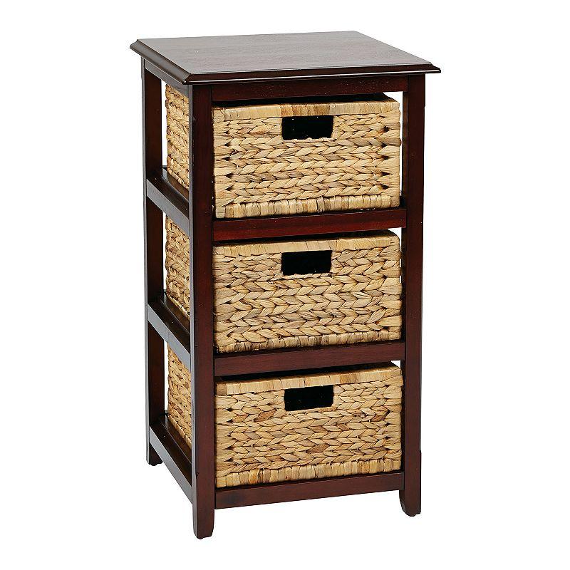 OSP Designs Seabrook 3-Drawer Storage Cabinet