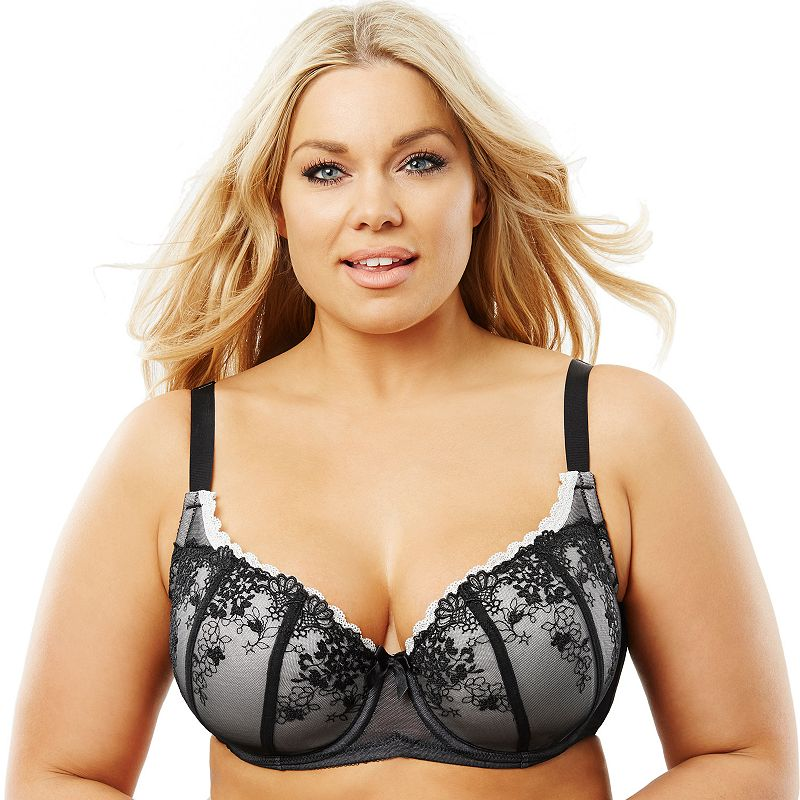 Perfects Australia Bra: Curve It Up Luxe Full-Figure Full-Coverage Balconette Bra 14ULX90 - Women's