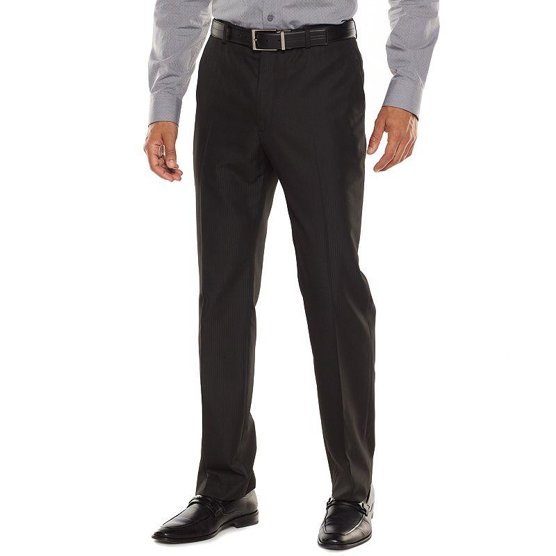 Men's Apt. 9® Modern-Fit Striped Black Suit Pants