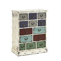 Parcel 13-Drawer Distressed Floor Cabinet