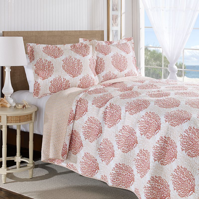 Laura Ashley Lifestyles 3-pc. Coral Coast Quilt Set