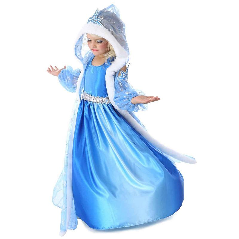 Snow Queen Gown and Cape Costume - Kids