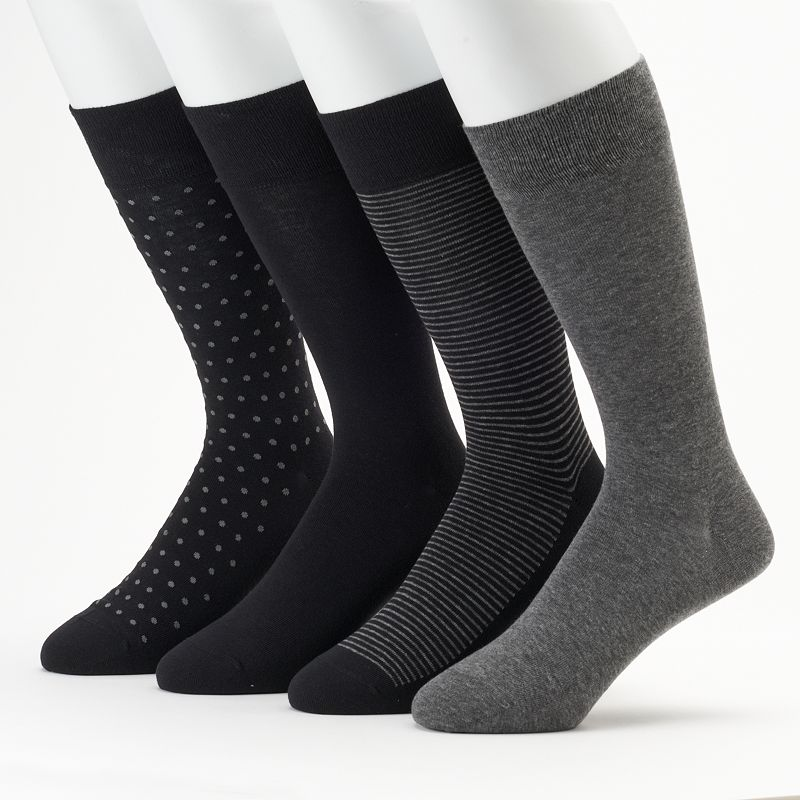 Men's Marc Anthony Dot & Stripe Dress Socks