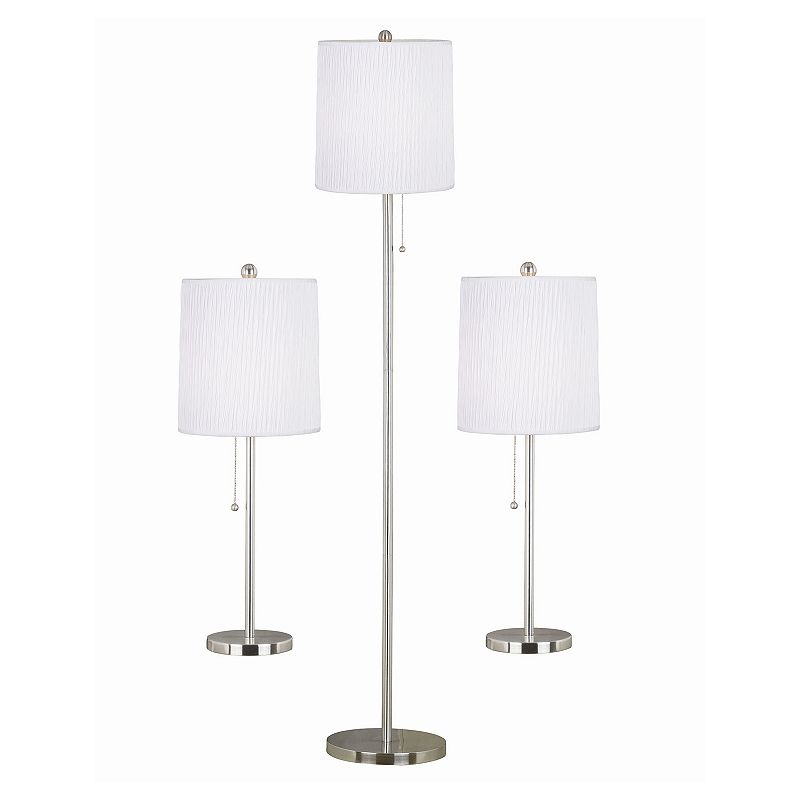 Selma 3-piece Table and Floor Lamp Set
