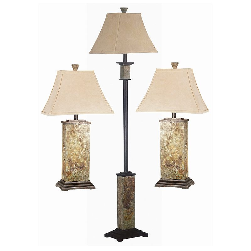 Bennington 3-piece Table and Floor Lamp Set