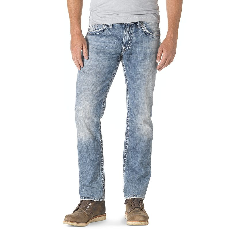 Men's Silver Jeans Nash Slim Straight Jeans