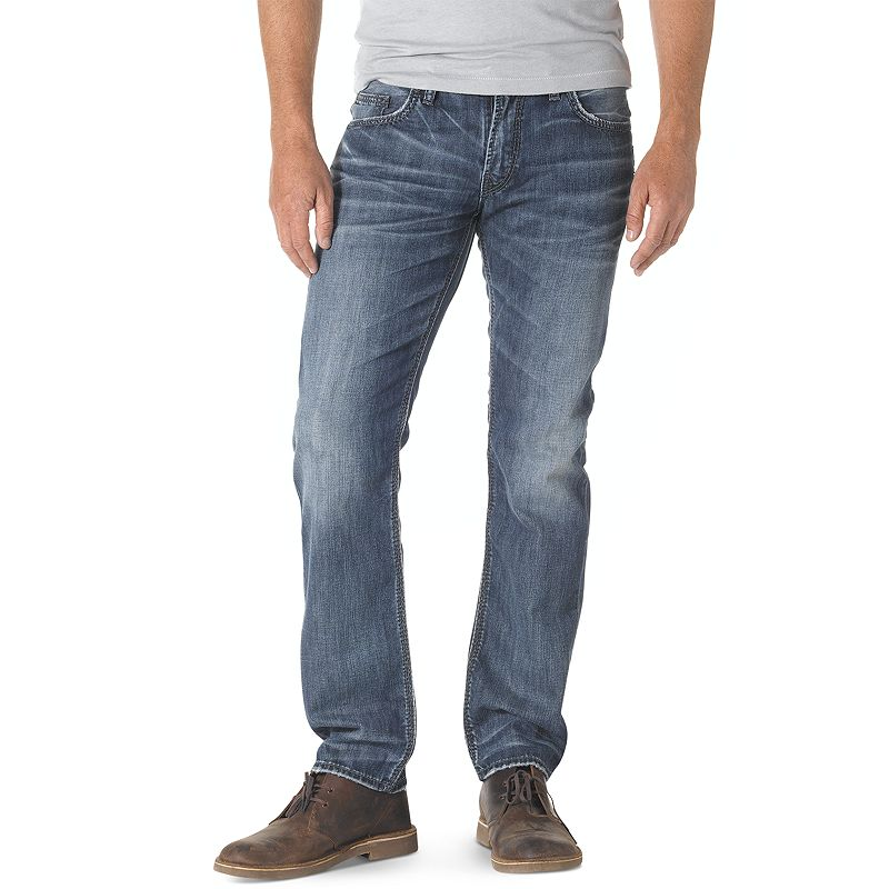Men's Silver Jeans Nash Straight Jeans