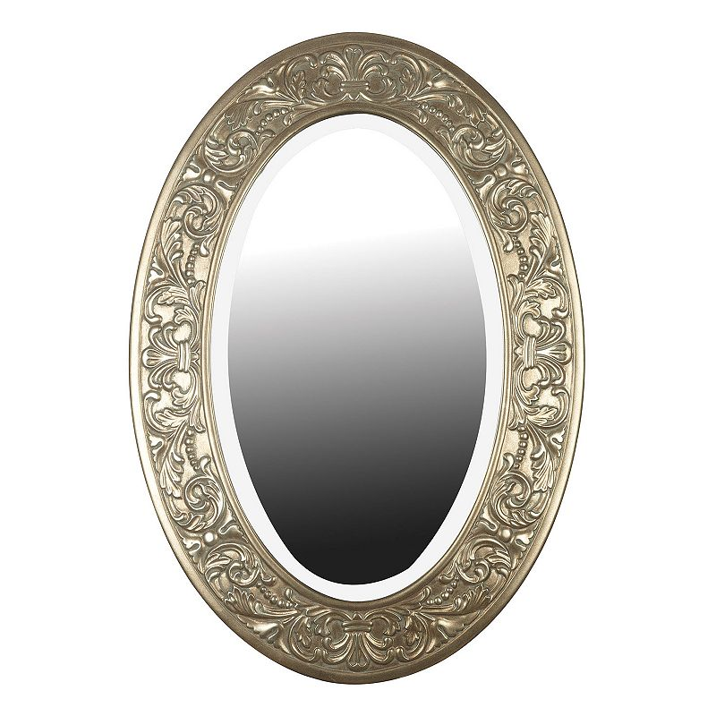Argento Oval Beveled Wall Mirror