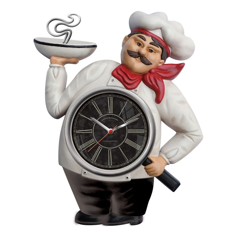FirsTime Chef Wall Clock, White