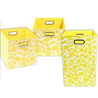 Modern Littles 3-pc. Giraffe Storage Bin Set
