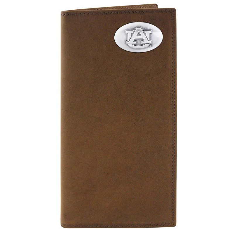 Zep-Pro Auburn Tigers Concho Crazy Horse Leather Secretary Wallet
