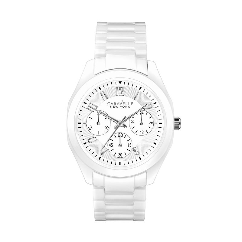 Caravelle New York by Bulova Women's Ceramic Chronograph Watch - 45L145