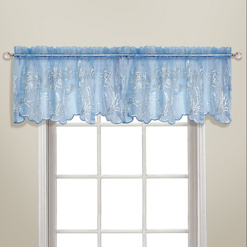 United Curtain Co Bling Sheer Valance 55 39 39 X 18 39 39