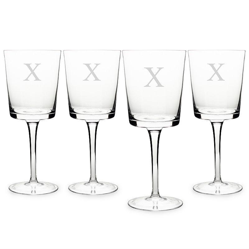 Cathy's Concepts Monogram 4-pc. Contemporary Wine Glass Set