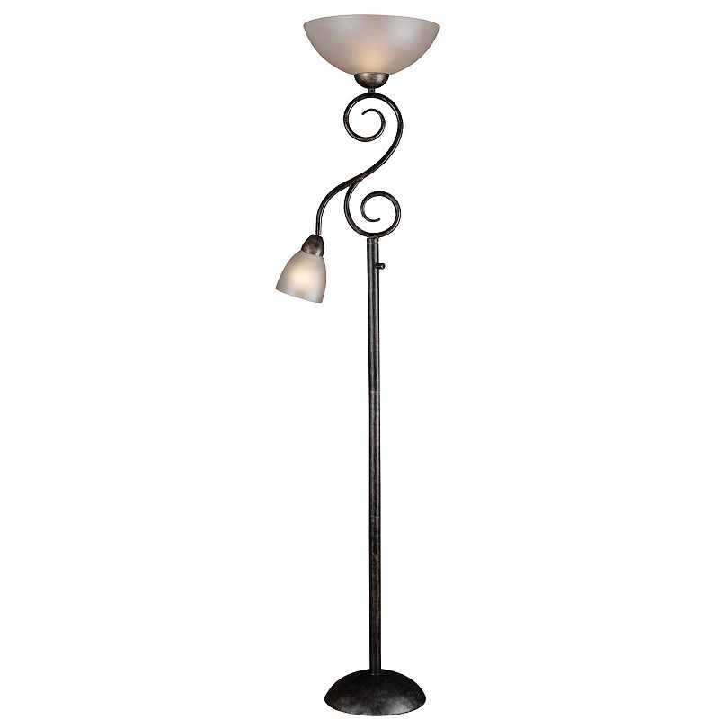 Treble Torchiere Floor and Reading Lamp