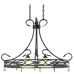 Countryside 2-Light Pot Rack Ceiling Light by