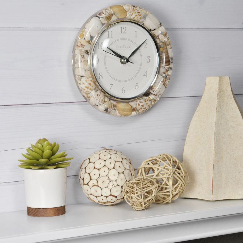 FirsTime Seashell Wall Clock, Multicolor