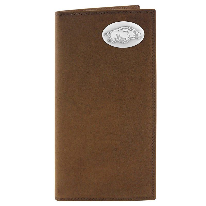 Zep-Pro Arkansas Razorbacks Concho Crazy Horse Leather Secretary Wallet
