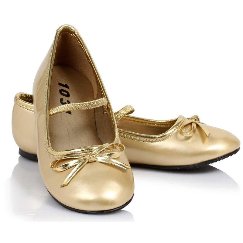 Girls Gold Shoes Ballet Flat