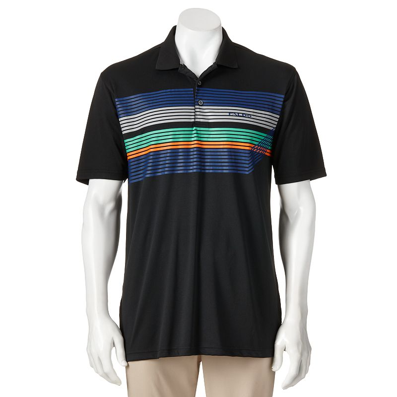 Nick Faldo Striped Golf Polo - Men
