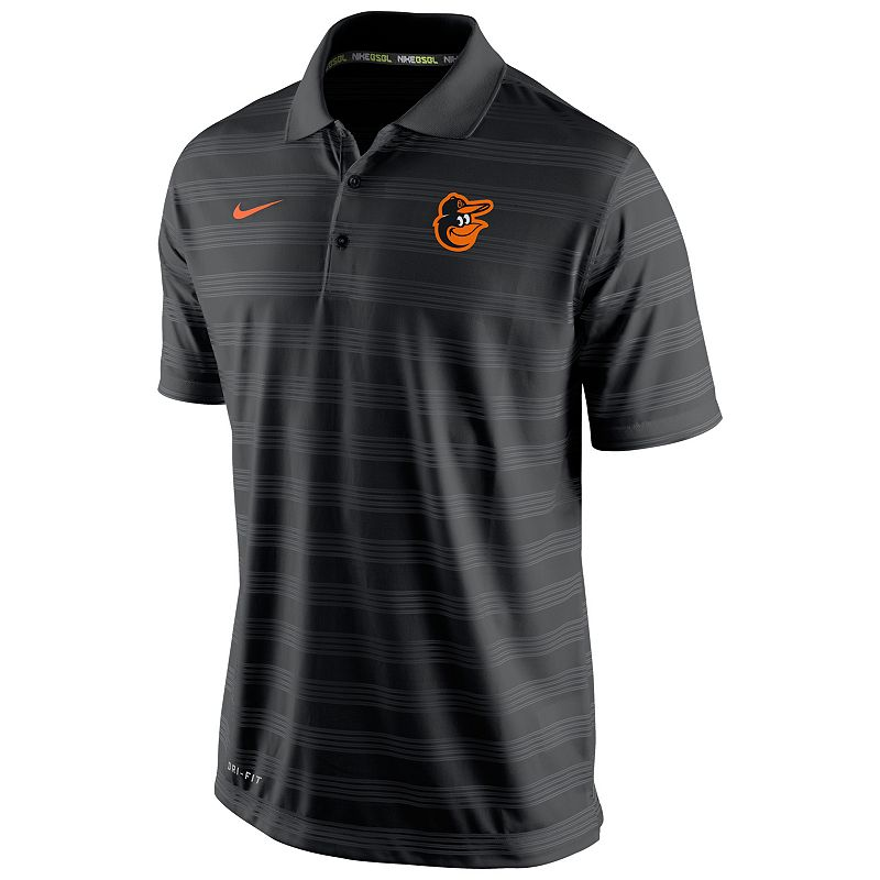 Men's Nike Baltimore Orioles Striped Dri-FIT Performance Polo 1.5