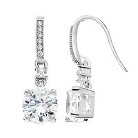 The Silver Lining Cubic Zirconia Silver Tone Drop Earrings